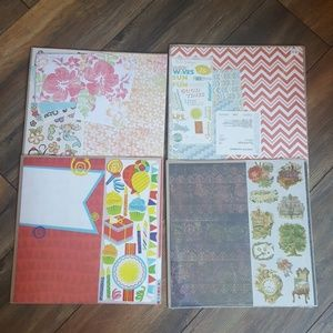 New scrapbooking paper and sticker sets